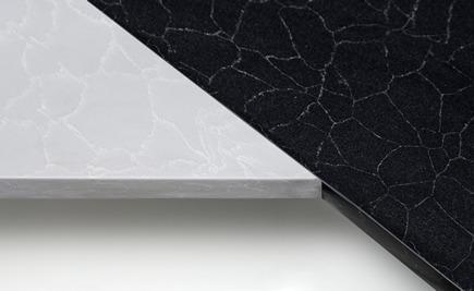 Kunststein Fensterbänke - Schwarze, weiße oder kunterbunte Kunststein Fensterbänke