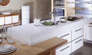 Elegant quartz stone worktops