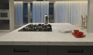 The powerful kitchen worktops from the Santa Margherita quartz