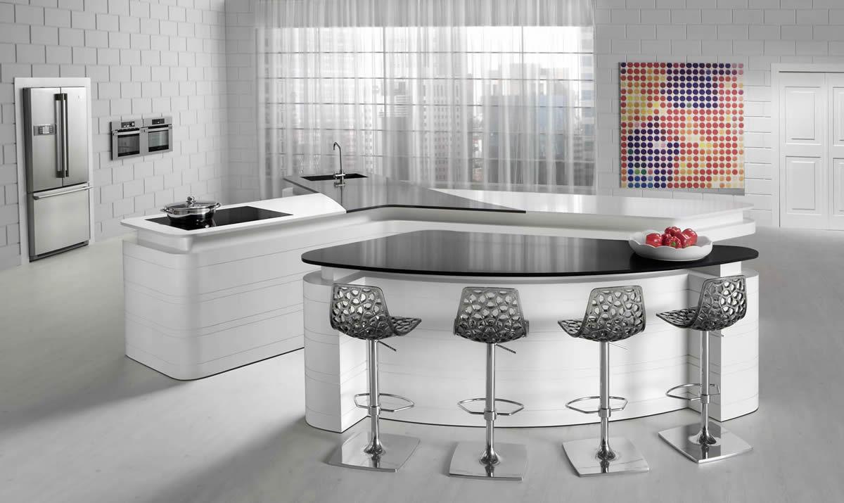 Caesarstone - Moderne Caesarstone Küche